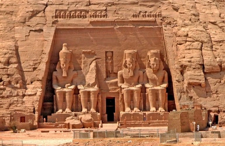 The Construction of the Temple of Abu Simbel