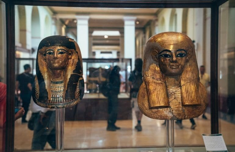 The Exhibits at the Egyptian Museum