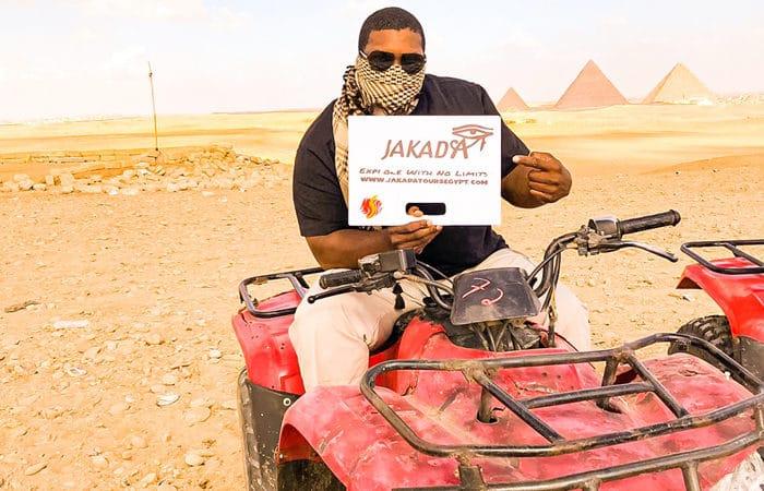 quad bike at Giza pyramids, Quad biking in Egypt