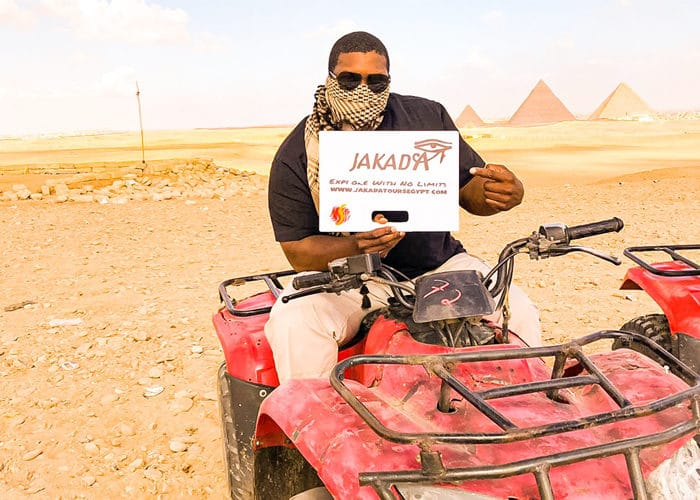 quad bike at Giza pyramids, Quad biking in Egypt