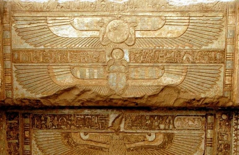 Winged solar disk egyptian symbols and their names